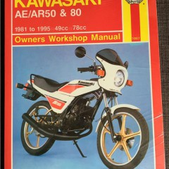Versktadshandbok KAWASAKI AE/AR50 & 80 År:1981-1995