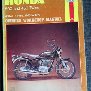 Versktadshandbok HONDA 500 & 450 Twins År:1965-1978