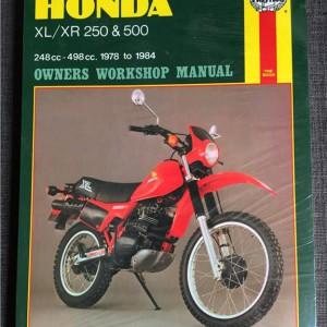 Versktadshandbok HONDA XL/XR 250 & 500 År:1978-1984