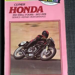 Versktadshandbok Clymer HONDA 350-550cc FOURS År:1972-1978