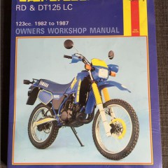 Versktadshandbok YAMAHA RD & DT125 LC År:1982-1987