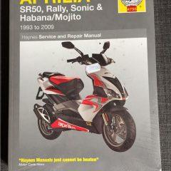 Versktadshandbok APRILIA SR50, Rally, Sonic & Habana/Mojito År:1993-2009