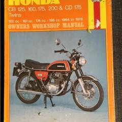 Versktadshandbok HONDA CB 125,160,175,200 & CD 175 Twins År:1964-1978