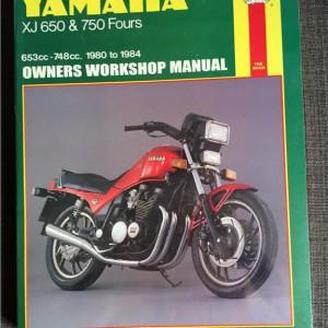 Versktadshandbok YAMAHA XJ650 & 750 Fours År:1980-1984