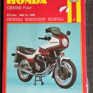 Versktadshandbok HONDA CBX550 Four År:1982-1986