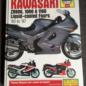 Versktadshandbok Kawasaki ZX900, 1000 & 1100 År:1983-1997