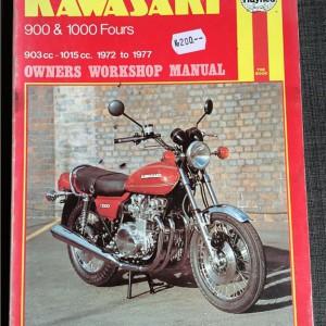 Versktadshandbok Kawasaki 900 & 1000 Fours År:1972-1977