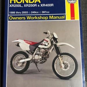 Versktadshandbok Honda XR250L, XR250R & XR400R År:1986-2003