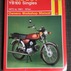 Versktadshandbok YAMAHA YB100 Singles År:1973-1991
